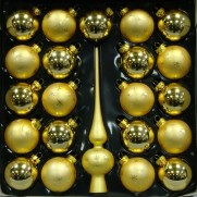 Набор с верхушкой 28см, JNG140509, золото матовая с декором