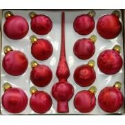 Набор с верхушкой 28см, JNG140514, красный матовый иней