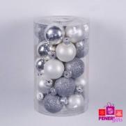 Набор шаров 3 см, серебро