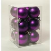 Набор шаров 4см/12шт., фиолетовый матовый JNP140603
