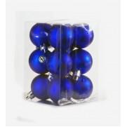 Набор шаров 4см/12шт., синий матовый JNP140604