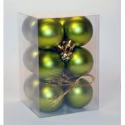 Набор шаров 4см/12шт., зеленый матовый JNP140602