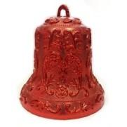"""Украшение """"Колокольчик"""" 12,5 см, красный, с орнаментом JNP072-466"""
