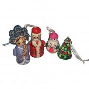 Набор елочных игрушек Новогодний в пакете (4 шт)