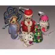 Набор елочных игрушек Новый Год в пакете (5 шт)