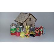 Набор елочных игрушек Колобок (7 шт)