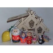 Набор елочных игрушек Репка-1 в домике (7 шт)