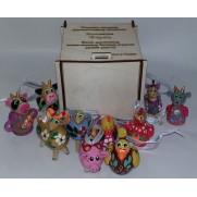 Набор елочных игрушек Ферма (10 шт)