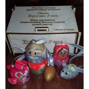 Набор елочных игрушек Курочка Ряба (5 шт)