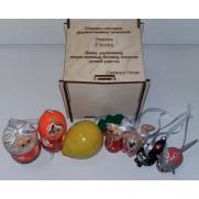 Набор елочных игрушек Репка-2 в коробке (7 шт)