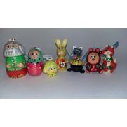 Набор елочных игрушек Колобок в пакете (7 шт)