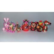 Набор елочных игрушек Заюшкина избушкав пакете (7 шт)