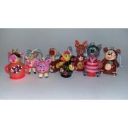 Набор елочных игрушек Зимовье зверей в пакете (8 шт)