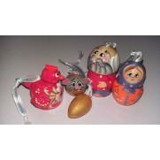 Набор елочных игрушек Курочка Ряба в пакете (5 шт)