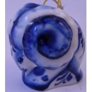 Елочная игрушка Баран гжель 5,5см G0704