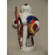 Дед Мороз из ткани арт 3