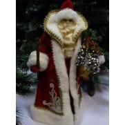 Дед Мороз из ткани арт 4