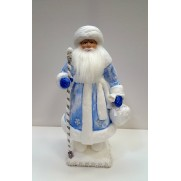 Дед Мороз под елку ватный 38 см д38 синий