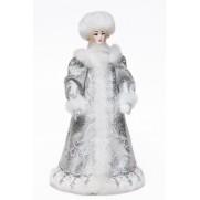 Снегурочка из ткани со снежком с30-003 054