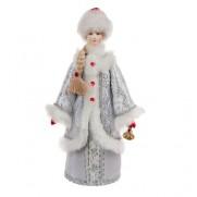 Снегурочка из ткани с колокольчиком в серебянной шубке с29-002 162
