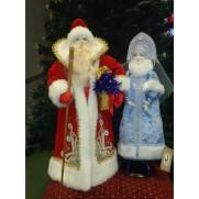 Набор Дед Мороз и Снегурочка из ткани №1