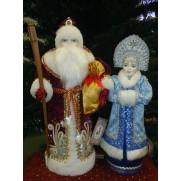 Набор Дед Мороз и Снегурочка из ткани №2