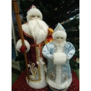 Набор Дед Мороз и Снегурочка из ткани №3