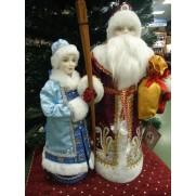 Набор Дед Мороз и Снегурочка из ткани №4