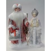 Набор Дед Мороз и Снегурочка из ткани №5