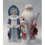 Набор Дед Мороз и Снегурочка из ткани №6