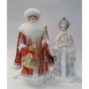Набор Дед Мороз и Снегурочка из ткани №7