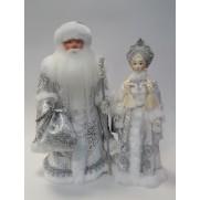 Набор Дед Мороз и Снегурочка из ткани №8