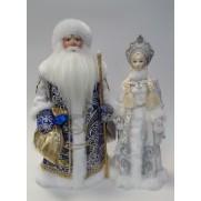 Набор Дед Мороз и Снегурочка из ткани №9
