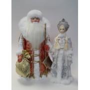 Набор Дед Мороз и Снегурочка из ткани №21