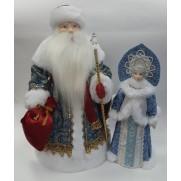 Набор Дед Мороз и Снегурочка из ткани №22