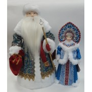Набор Дед Мороз и Снегурочка из ткани №23