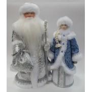 Набор Дед Мороз и Снегурочка из ткани №24