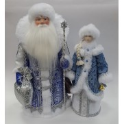 Набор Дед Мороз и Снегурочка из ткани №25