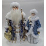 Набор Дед Мороз и Снегурочка из ткани №27