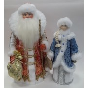Набор Дед Мороз и Снегурочка из ткани №28