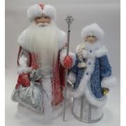 Набор Дед Мороз и Снегурочка из ткани №29