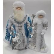 Набор Дед Мороз и Снегурочка из ткани №31