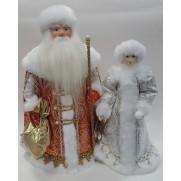 Набор Дед Мороз и Снегурочка из ткани №32