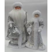 Набор Дед Мороз и Снегурочка из ткани №33