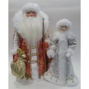 Набор Дед Мороз и Снегурочка из ткани №34