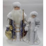 Набор Дед Мороз и Снегурочка из ткани №35