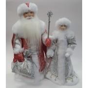 Набор Дед Мороз и Снегурочка из ткани №36