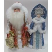 Набор Дед Мороз и Снегурочка из ткани №37