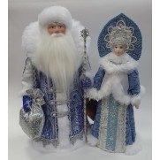 Набор Дед Мороз и Снегурочка из ткани №38