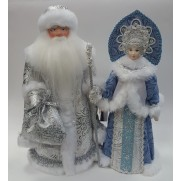 Набор Дед Мороз и Снегурочка из ткани №39